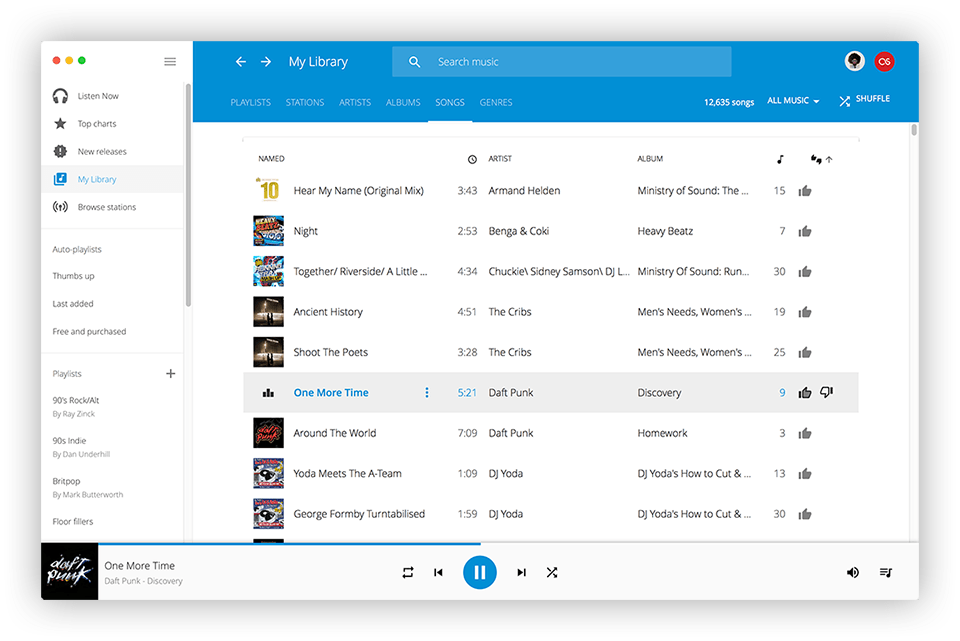 Radiant Player for Google Play Music - Beautifully integrate